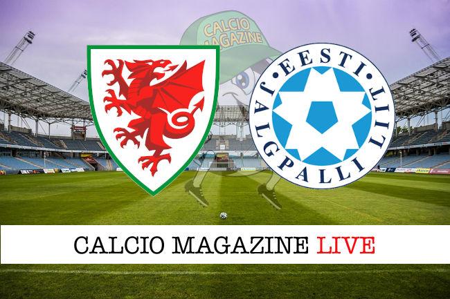Galles Estonia cronaca diretta live risultato in tempo reale
