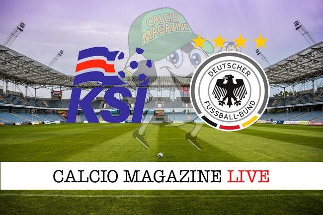 Islanda Germania cronaca diretta live risultato in tempo reale