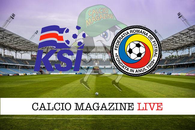 Islanda Romania cronaca diretta live risultato in tempo reale