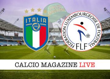 Italia Lussemburgo cronaca diretta live risultato in tempo reale