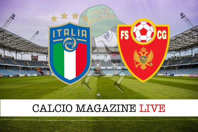 Italia Montenegro cronaca diretta live risultato in tempo reale