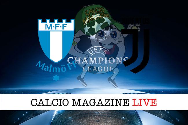 Malmo Juventus cronaca diretta live risultato in tempo reale
