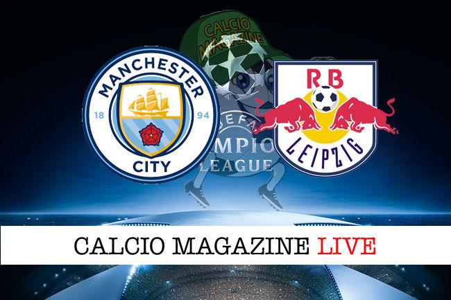 Manchester City Lipsia cronaca diretta live risultato in tempo reale