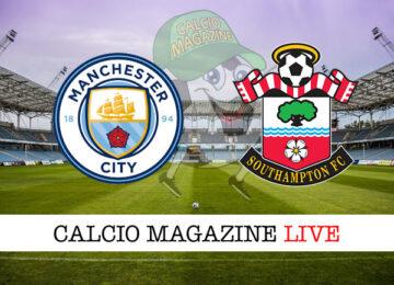 Manchester City Southampton cronaca diretta live risultato in tempo reale