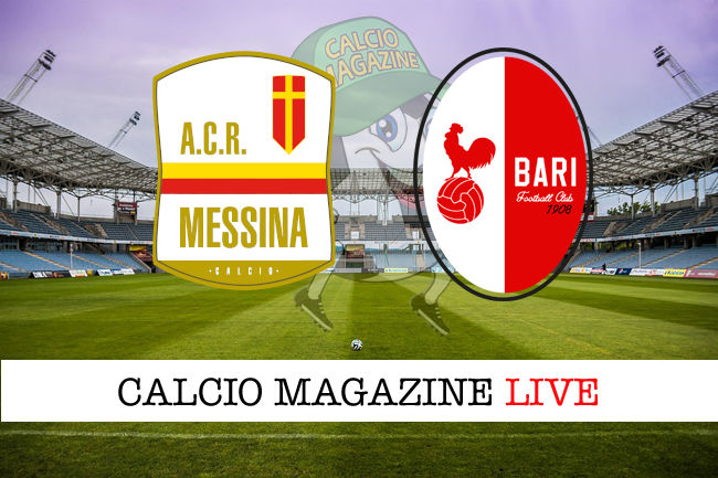 Messina Bari cronaca diretta live risultato in tempo reale
