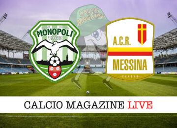 Monopoli Messina cronaca diretta live risultato in tempo reale