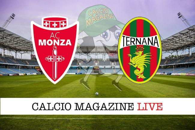 Monza Ternana cronaca diretta live risultato in tempo reale