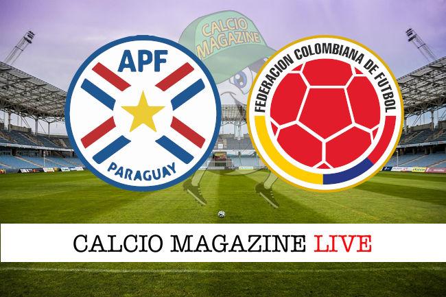 Paraguay Colombia cronaca diretta live risultato in tempo reale