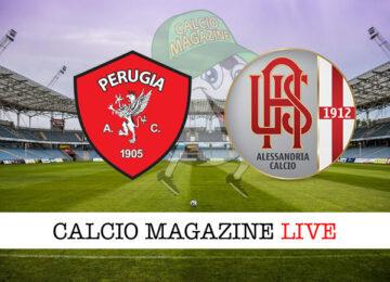 Perugia Alessandria cronaca diretta live risultato in tempo reale