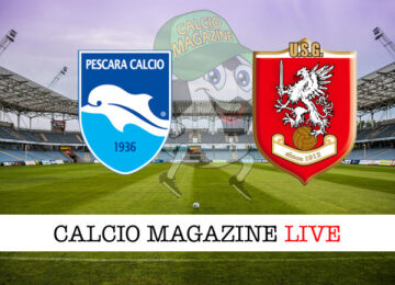 Pescara Grosseto cronaca diretta live risultato in tempo reale