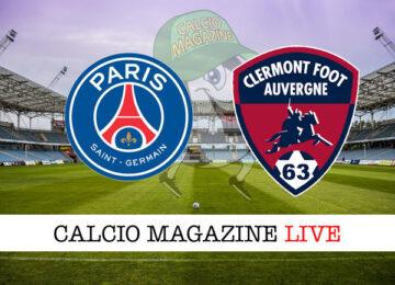 PSG Clermont Foot cronaca diretta live risultato in tempo reale