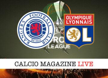 Rangers Lione cronaca diretta live risultato in tempo reale