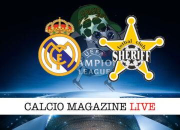 Real Madrid Sheriff Tiraspol cronaca diretta live risultato in tempo reale