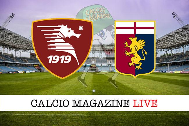 Salernitana Genoa cronaca diretta live risultato in tempo reale