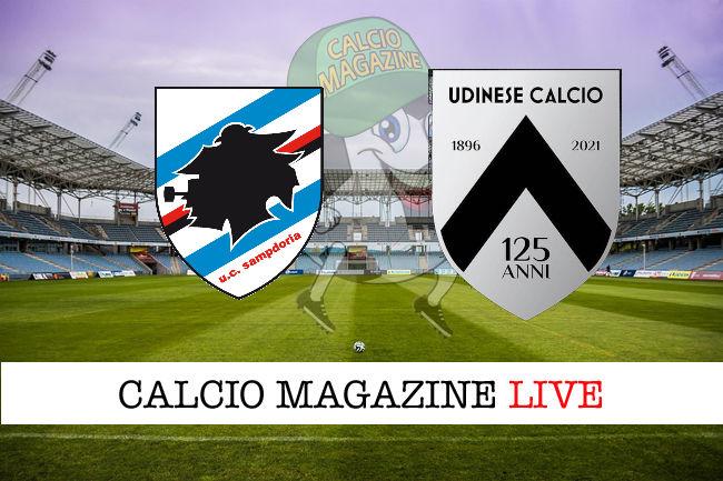 Sampdoria Udinese cronaca diretta live risultato in campo reale