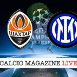 Shakhtar Donetsk Inter cronaca diretta live risultato in tempo reale