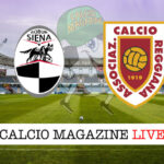 Siena Reggiana cronaca diretta live risultato in tempo reale