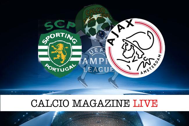 Sporting Lisbona Ajax cronaca diretta live risultato in tempo reale