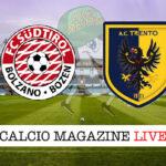 Sudtirol Trento cronaca diretta live risultato in tempo reale