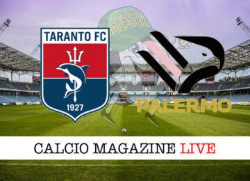 Taranto Palermo cronaca diretta live risultato in tempo reale