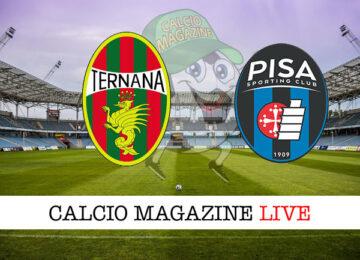 Ternana Pisa cronaca diretta live risultato in tempo reale