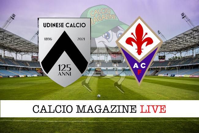 Udinese Fiorentina cronaca diretta live risultato in tempo reale