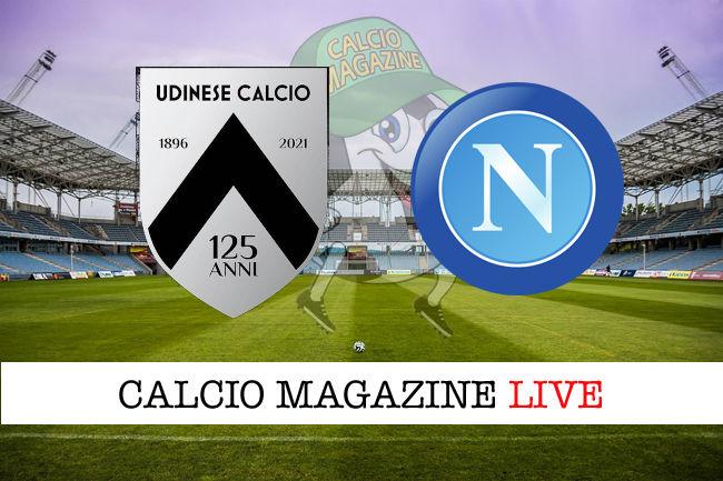 Udinese Napoli cronaca diretta live risultato in tempo reale