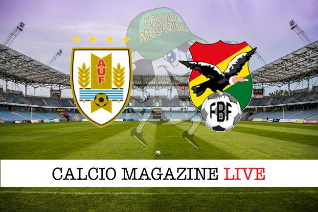 Uruguay Bolivia cronaca diretta live risultato in tempo reale
