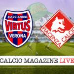 Virtus Verona Piacenza cronaca diretta live risultato in tempo reale