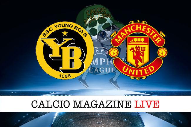 Young Boys Manchester United cronaca diretta live risultato in tempo reale