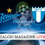Zenit Malmo cronaca diretta live risultato in tempo reale