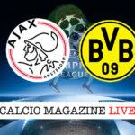 Ajax Borussia Dortmund cronaca diretta live risultato in tempo reale