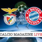 Benfica Bayern Monaco cronaca diretta live risultato in tempo reale
