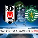 Besiktas Sporting Lisbona cronaca diretta live risultato in tempo reale