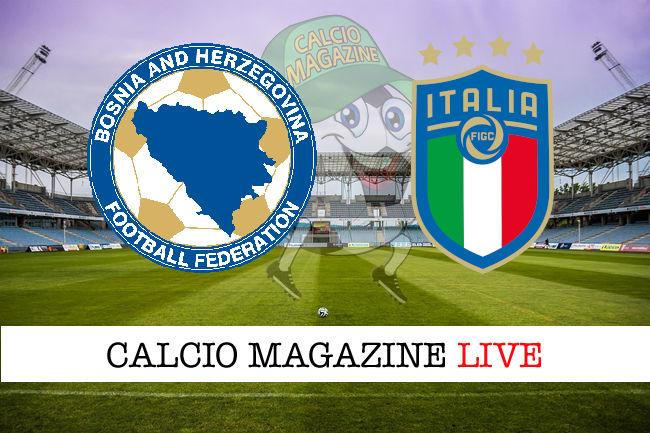 Bosnia Erzegovina Italia cronaca diretta live risultato in tempo reale