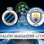 Brugge Machester City cronaca diretta live risultato in tempo reale