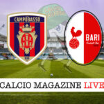 Campobasso Bari cronaca diretta live risultato in tempo reale