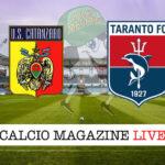 Catanzaro Taranto cronaca diretta live risultato in tempo reale