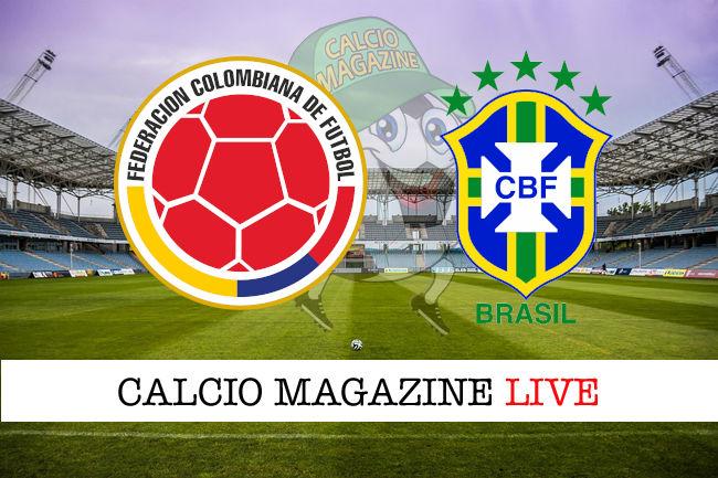 Colombia Brasile cronaca diretta live risultato in tempo reale