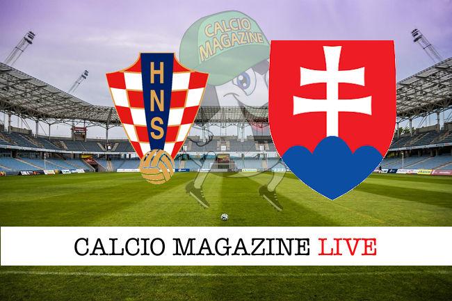 Croazia Slovacchia cronaca diretta live risultato in tempo reale