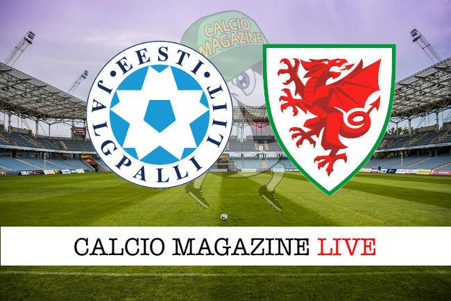 Estonia Galles cronaca diretta live risultato in tempo reale