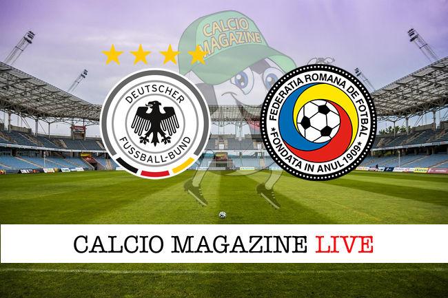 Germania Romania cronaca diretta live risultato in tempo reale