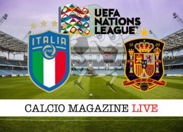Italia Spagna Nations League cronaca diretta live risultato in tempo reale