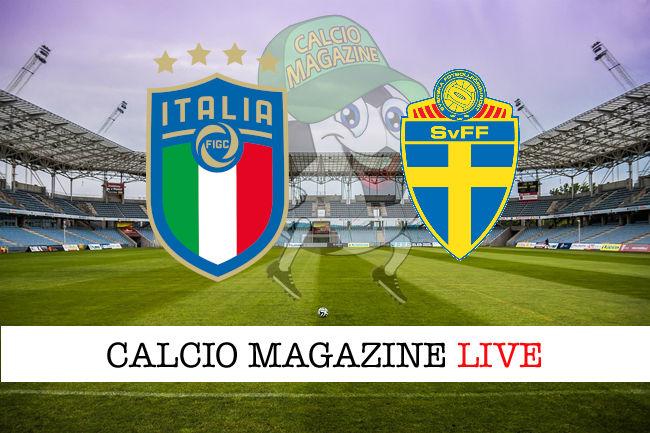 Italia Svezia cronaca diretta live risultato in tempo reale