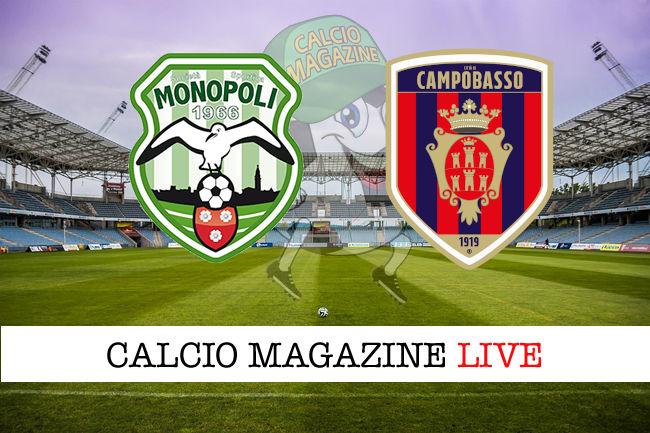 Monopoli Campobasso cronaca diretta live risultato in tempo reale
