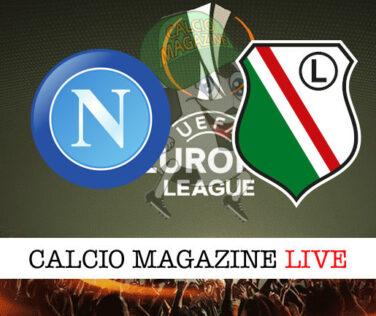 Napoli Legia Varsavia cronaca diretta live risultato in tempo reale