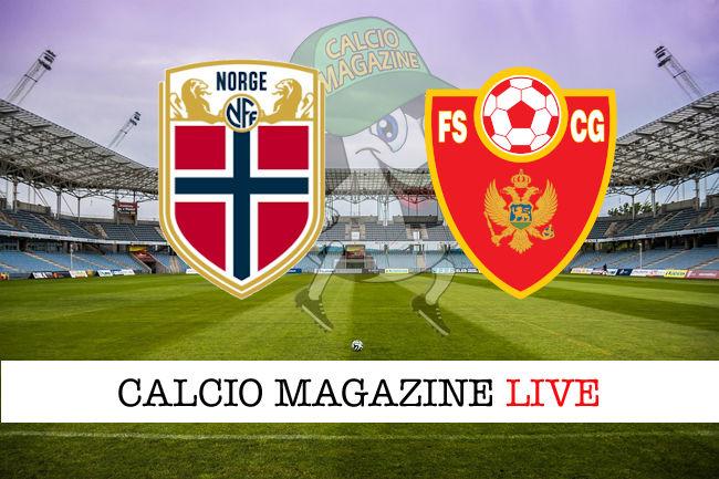 Norvegia Montenegro cronaca diretta live risultato in tempo reale