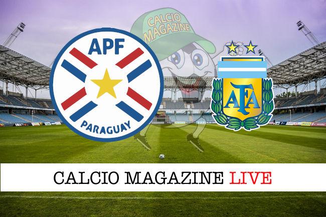 Paraguay Argentina cronaca diretta live risultato in tempo reale