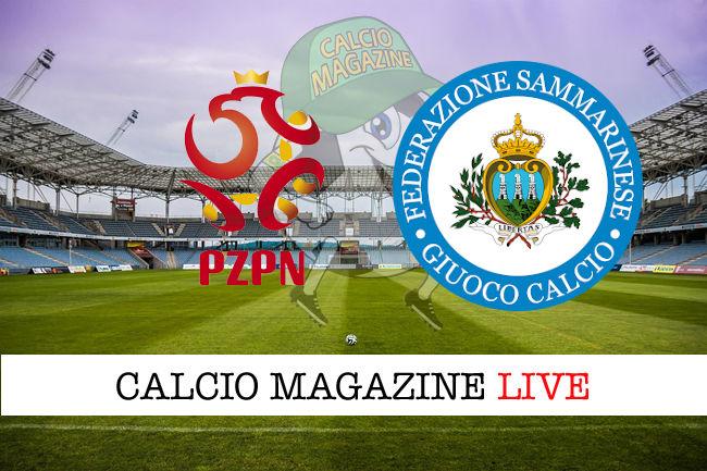 Polonia San Marino cronaca diretta live risultato in tempo reale