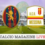 Potenza Messina cronaca diretta live risultato in tempo reale